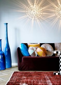 Image campaign shot from the home of Christina Lundsteen, all cushions are from her own collection.  www.christinalundsteen.com