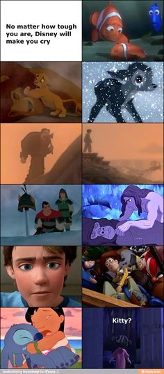 I'll never get over Mufasa and Bambi's mother's deaths. NEVER ! Like WTF Disney ??!!