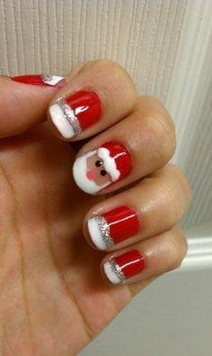Santa/Christmas nails!!!! I love Christmas!!!!!!!!