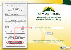 Atmosphere Customer Satisfaction Survey, www.atmospheresurvey.ca, atmospheresurvey.com