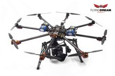 Flyingdream Drone (UAV) - aerial photography - Octocopter cinema - 3 axes Alexmos gimbal - Wookong