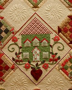 Close-up, The House on Edgewood Lane by Lynn Wilder at Sew'n Wild Oaks
