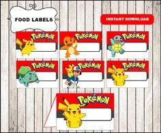 Pokemon food labels instant download Pokemon por kitpatricialira