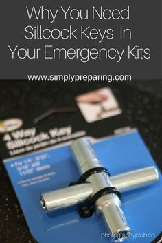 You need Sillcock keys in every 72 Hour Kit to be able to access Emergency Water Storage from public buildings in case of SHTF. A tool and hack that every family emergency kit must have. Emergency Water, Emergency Preparedness Kit, Family Emergency, Emergency Preparation, Emergency Planning, Hurricane Preparedness, Survival Supplies, Survival Food, Survival Prepping