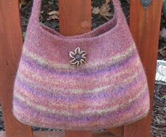 Felted Purse Pattern, Knit Bag Pattern, Felted Purse, Knitted Purse, Knitting Pattern - Autumn Evening