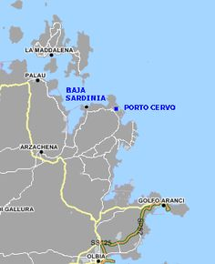 carte Costa Smeralda Porto Cervo Sardaigne