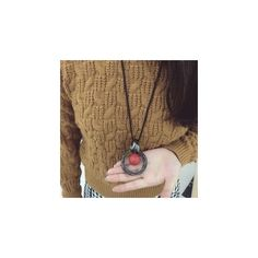 Statement Pendant Necklace ($5.52) ❤ liked on Polyvore featuring jewelry, necklaces, accessories, ball jewelry, red necklace, ball necklace, red chain necklace and red pendant necklace