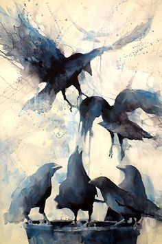 untitled by Sarah Yeoman Watercolor ~ 36 x 24