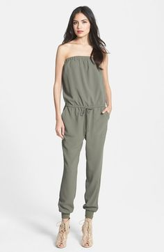 Joie 'Fairley' Drawstring Waist Strapless Jumpsuit available at #Nordstrom