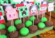 - Minecraft, Pubg, Lol and 8th Birthday, Birthday Parties, Art Minecraft, Skins Minecraft, Minecraft Crafts, Mindcraft Party, Minecraft Party Decorations, Art Hama, Mini Craft