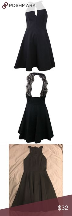 Black Keyhole Lace Back, Fit & Flare Dress •Black fit and flare dress •Open lace back •New with tags •65% Rayon, 30% Nylon, and 5% Spandex  http://pitaya.myshopify.com/collections/dresses/products/keyhole-bust-lace-back-flare-dress-black?variant=32783124740 Pitaya Dresses Mini