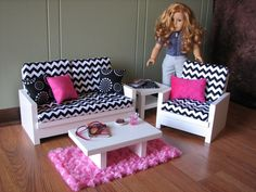 18 Doll Furniture  American Girl sized Living by MadiGraceDesigns,