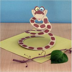 Jungle Book Craft - paper snake printable.