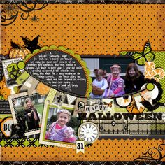 a fun Halloween page with Echo Park's New Chillingsworth Manor kit!