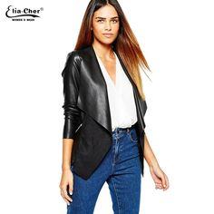 c23198c0fd  56.96 - Cool Women Jackets Eliacher Brand Winter Spring Jacket Women 2017  Black Plus Size Casual