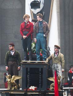 Marius & Enjolaras. On The Set of Les Miserables