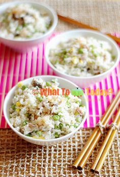 YANG ZHOU FRIED RICE. This is Chinese-style fried rice made with shrimp/meat , Asian seasonings and veggies. Light in color but so tasty that you will make it over and over
