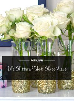 Get Your Glitter on With This Shot-Glass DIY