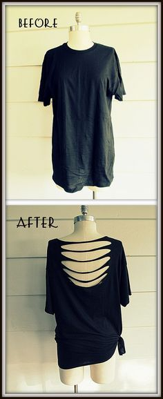 Wobisobi: No Sew T-shirt...yet another way of transforming your disguarded oversized shirts.