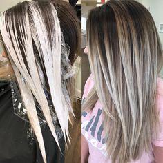 17 Stunning Examples of Balayage Dark Hair Color - Style My Hairs Hair Color Formulas, Hair Color Techniques, Painting Techniques, Balayage Hair Blonde, How To Bayalage Hair, Dope Hairstyles, Hair Painting, Hair Highlights, Dark Hair