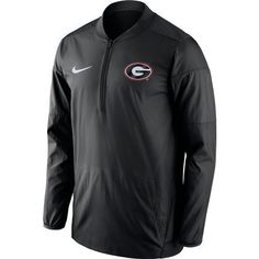 Nike™ Men's University of Georgia Lockdown 1/2 Zip Jacket (Black, Size Large) - NCAA Licensed Product, NCAA Men's Fleece/Jackets at Academy Sports