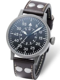 98c3dfa2190 Amazon.com  Laco Paderborn Type B Dial Swiss Automatic Pilot Watch with  Sapphire Crystal 861749  Watches