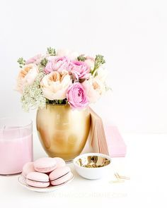 b is for bonnie design x SC Stockshop Collaboration   styled blush and gold desktop styling and stock photography