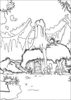 Shrek Kleurplaten voor kinderen. Kleurplaat en afdrukken tekenen nº 37