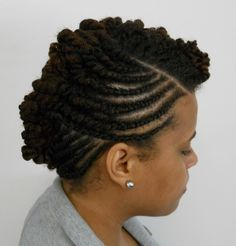 Twisted Natural Hair UpStyle