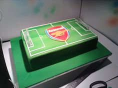 Arsenal football cake. Airbushed