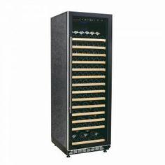 WL440F Weinklimaschrank für anspruchsvolle Weinliebhaber: jetzt PROMO auf www.swisscave.ch! • 450 Lt., bis 220 Fl. • 14 ausziehbare Holztablare • Chromstahltürgriff- und Rahmen, Ganzflächige Glastüre • Abschliessbar • Aktivkohlefilter für gute Luft • Temp.-Bereich: 5 - 22 Grad • Luftfeuchtigkeit: >60% • 220V / Klimaklasse A / Kompressorgekühlt • 35dB(A) • Vibrationsfrei • Konvektions- und Umluftkühlung • 2 Anzeigen (IST / SOLL-Temp.), LED-Beleuchtung • Winter-Heizfunktion • Abm…