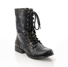Studded Boots! The studs are on the back, so you can see them really well.