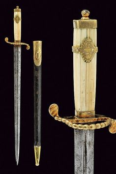 A navy dirk: provenance: France dimensions: length 53 cm. dating: late 18th Century
