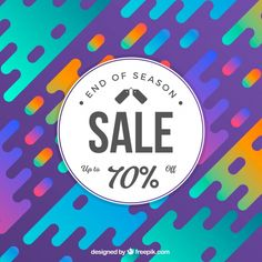 Sale background in gradient style Free Vector
