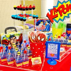 superheroes themed party
