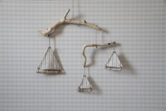 Driftwood Sailboat Mobile by DriftingOff on Etsy
