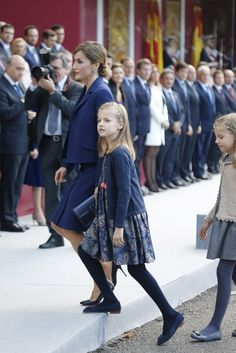 National holiday in Spain. With King Felipe VI, Letizia, Princess Leonor and Infanta Sofia queen