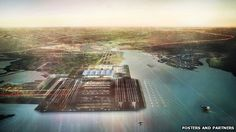"""Known as """"Boris Island"""" because of Mr Johnson's backing, it was one option being considered by the Airports Commission on how to expand airport capacity in the UK."""