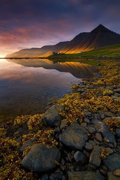 Evening in the Fjords, Korpudalur, Iceland
