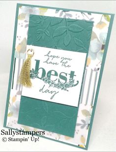 Sale-a-Bration Happy Wishes. Whole Lot of Lovely DSP and Layered Leaves Dynamic Embossing Folder. Independent Stampin' Up!® Demonstrator UK.