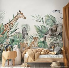 SAFARI- Wallpaper for children with animals - Children& room wallpaper - Self-adhesive wallpaper- SAFARI- Tapete für Kinder mit Tieren – Kinderzimmer Tapete – Selbstklebende Tapete Hey, I found this great Etsy article at - Jungle Wallpaper, Tier Wallpaper, Nursery Wallpaper, Animal Wallpaper, Wallpaper Edge, Adhesive Wallpaper, Wallpaper Roll, Safari Room, Safari Nursery