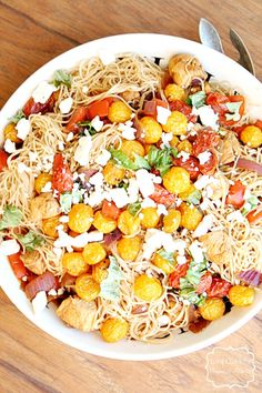 Mediterranean Pasta Salad ~ and a GIVEAWAY from Hodgson Mill - Heather's French Press