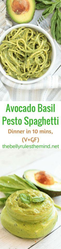 avocado basil pasta vegan gluten free