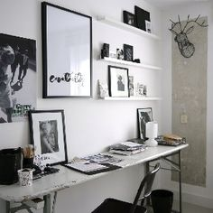 Office & Workspace, Tips to Make a Comfy home Office: Moderm Minimalist Home Office Design Home Art Studios, Art Studio At Home, Studio Studio, Studio Ideas, Studio Table, Tiny Studio, Music Studios, Home Office Design, Home Office Decor