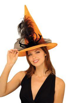 Orange Spider Witch Hat