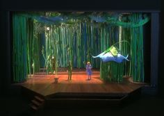 Linda Buchanan, scenic designer for PETER PAN, also designed sets for our… Peter Pan Broadway, Peter Pan Musical, Peter Pan Play, Peter Pan Jr, Set Design Theatre, Stage Design, Wonderland Theater, Peter Pan Neverland, Peter And The Starcatcher
