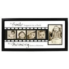 Wood Wall Photo Frame - A Smile Happens