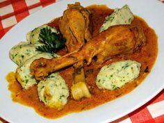 Paprikás csirke, karfiol galuskával