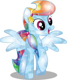 Rainbow Dash Crystal by InfiniteWarlock on DeviantArt Dessin My Little Pony, My Little Pony Drawing, Mlp My Little Pony, My Little Pony Friendship, Rainbow Dash, My Little Pony Stickers, Crystal Ponies, Celestia And Luna, Princess Twilight Sparkle