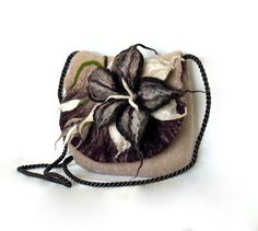 Brown Bag.Felted Bag.Felted Handbag.Felted by FeltBagsbyMarta, $150.00